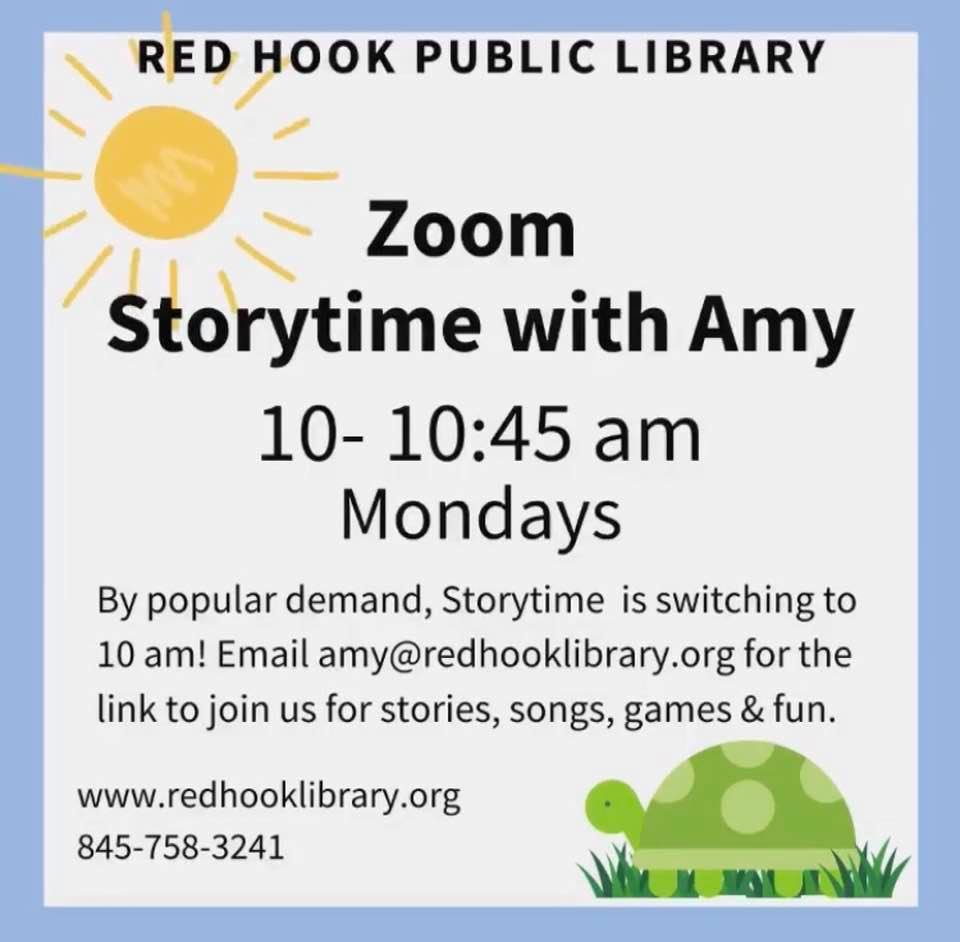 VIRTUAL - FREE! Zoom Storytime with Amy from Red Hook Public Library