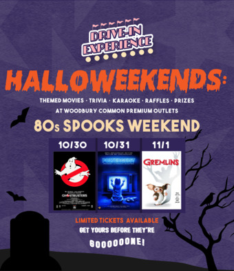 Halloweekends: 80's Spooks Weekend! A Halloween-themed Drive-in Experience at Woodbury Commons