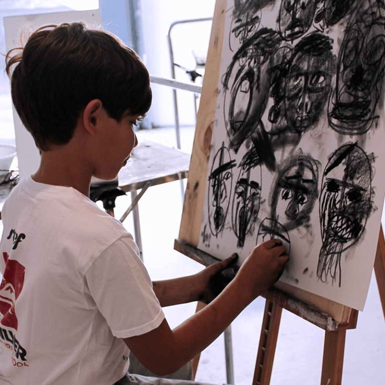 Kids Focus on Drawing Art Class with One River School in Hartsdale, NY