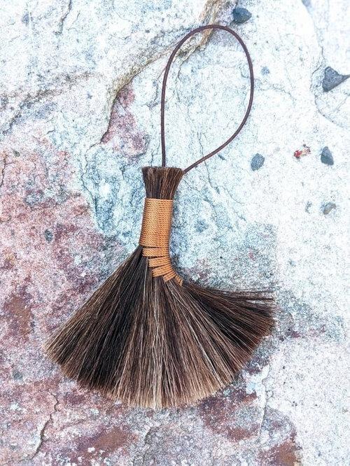 Small Woven Brooms with Poliana Danila at Glebe House Garden in Poughkeepsie, NY